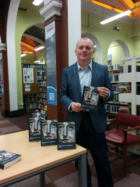 Colm Scully at the launch of What News, Centurions?, December 2014