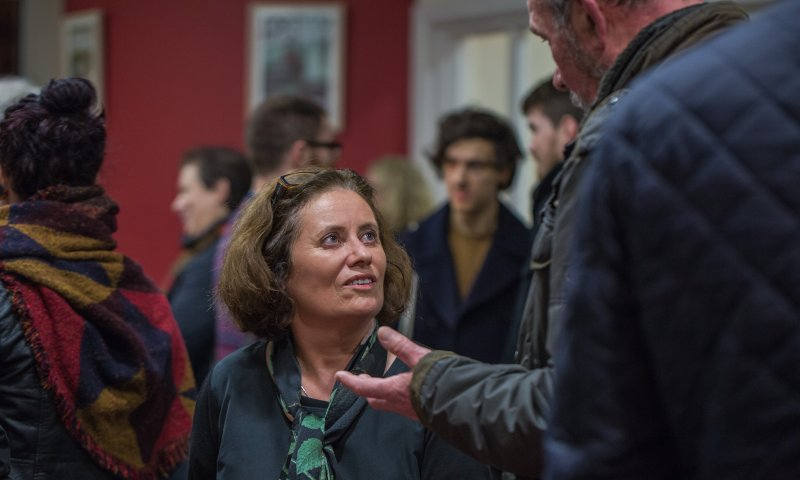 Madeleine D'Arcy at the launch of Holes: Decade I and The Elysian: Creative Responses (2017)