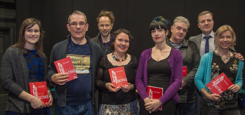 Readers at the launch of Holes: Decade I and The Elysian: Creative Responses (2017)