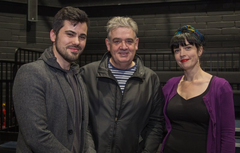 James O'Sullivan, Cónal Creedon, and Doireann Ní Ghríofa at the launch of Holes: Decade I and The Elysian: Creative Responses (2017)