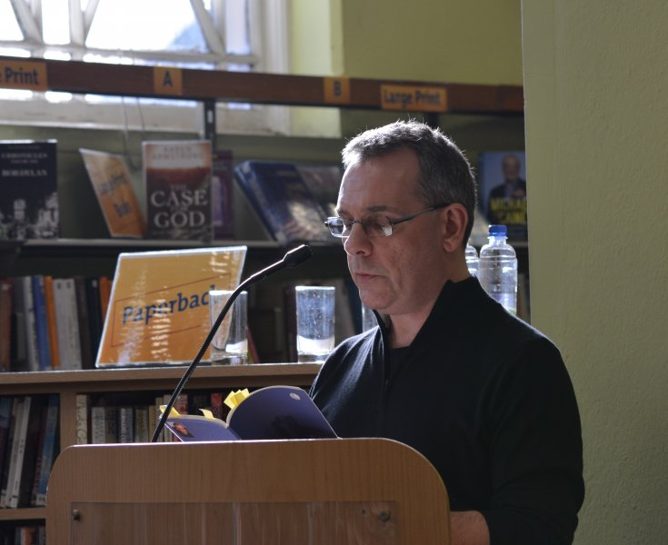 Graham Allen reading at the launch of his collection, The One That Got Away