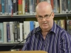 John Saunders, author of Chance, reading at the launch his second collection of poetry